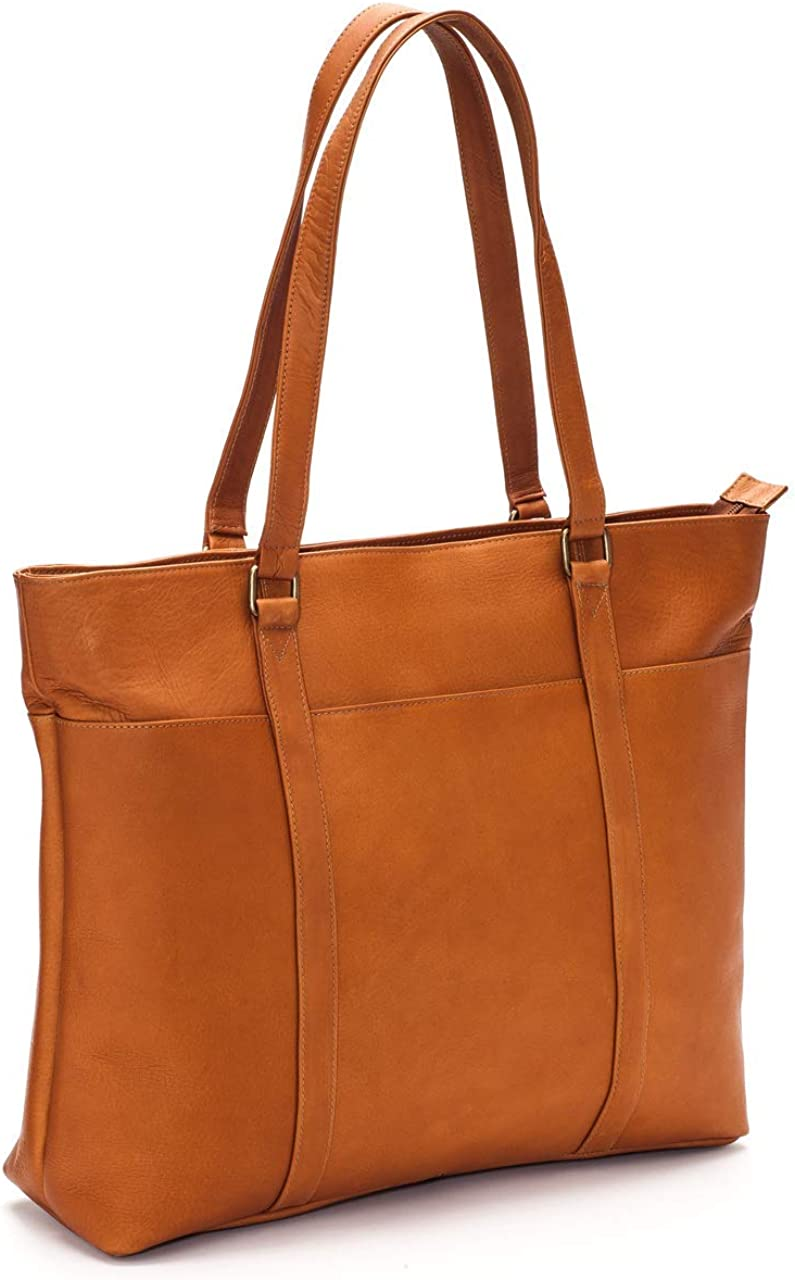 Le Donne Leather Women s Laptop Tote Bag, Tan, Medium