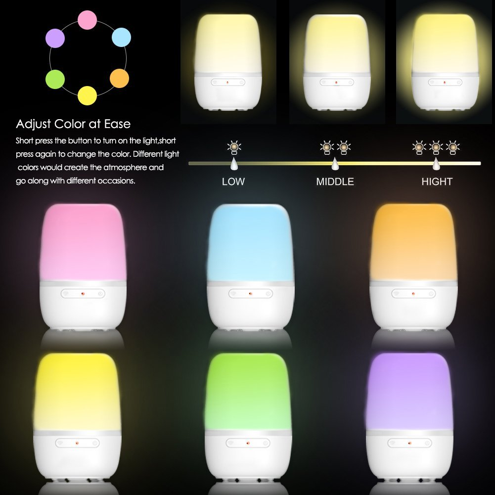 Wi-Fi Controlled by Voice or Smartphone Compatible with Alexa//Google Home LED Dimmable Ambient Table Lamp Desk Light Lamp for Breastfeeding Outdoor Party SL1-CO-US-1 COSROLE Smart Night Light Home