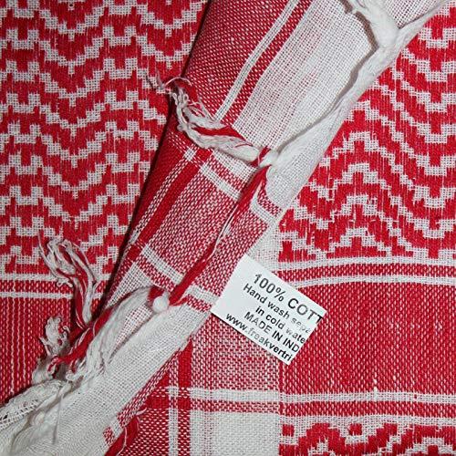 Foulard 100 Scene 100x100 Bianco Palestinese Cm Con Fondo Kefiah Cotone Freak qAwC541xw