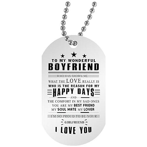 AZ Gift Plus Perfect Birthday Gifts Dog Tag For My Wonderful Boyfriend PERFECT LOVE