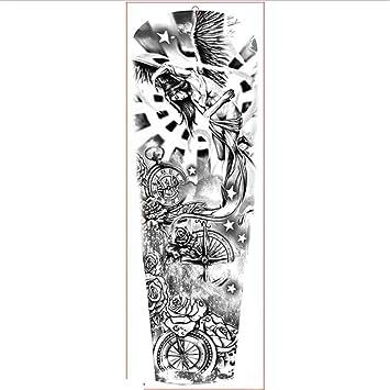 HDNSA Gran brazo manga tatuaje impermeable etiqueta engomada del ...