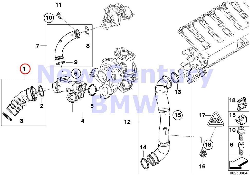 Amazon.com: BMW Genuine Engine Inspection Kits Charge Air Line 335d:  AutomotiveAmazon.com