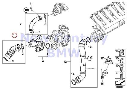 amazon com bmw genuine engine inspection kits charge air line 335d 335 engine bmw genuine engine inspection kits charge air line 335d