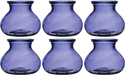 Floral Supply Online – Rosie Posie Vase. Vintage Design Glass vase for Weddings, Events, Decorating, Arrangements, Flowers, Office, or Home Decor. 6, Purple