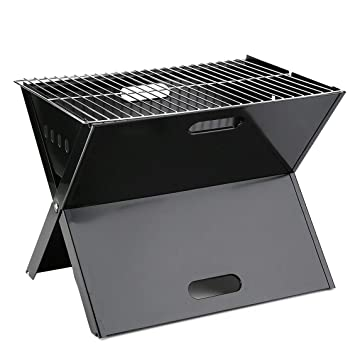 Barbacoa Grill Rack, Cocina Barbacoa Grill Rack Bracket Al Aire Libre Camping BBQ Parrilla Bandejas de Asar Herramienta de Cocina para Hornear Negro: ...