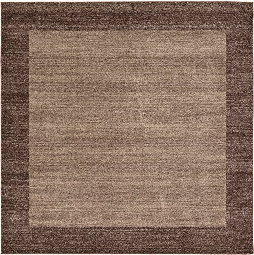 Cheap Unique Loom Del Mar Collection Contemporary Transitional Light Brown Square Rug (8′ x 8′)