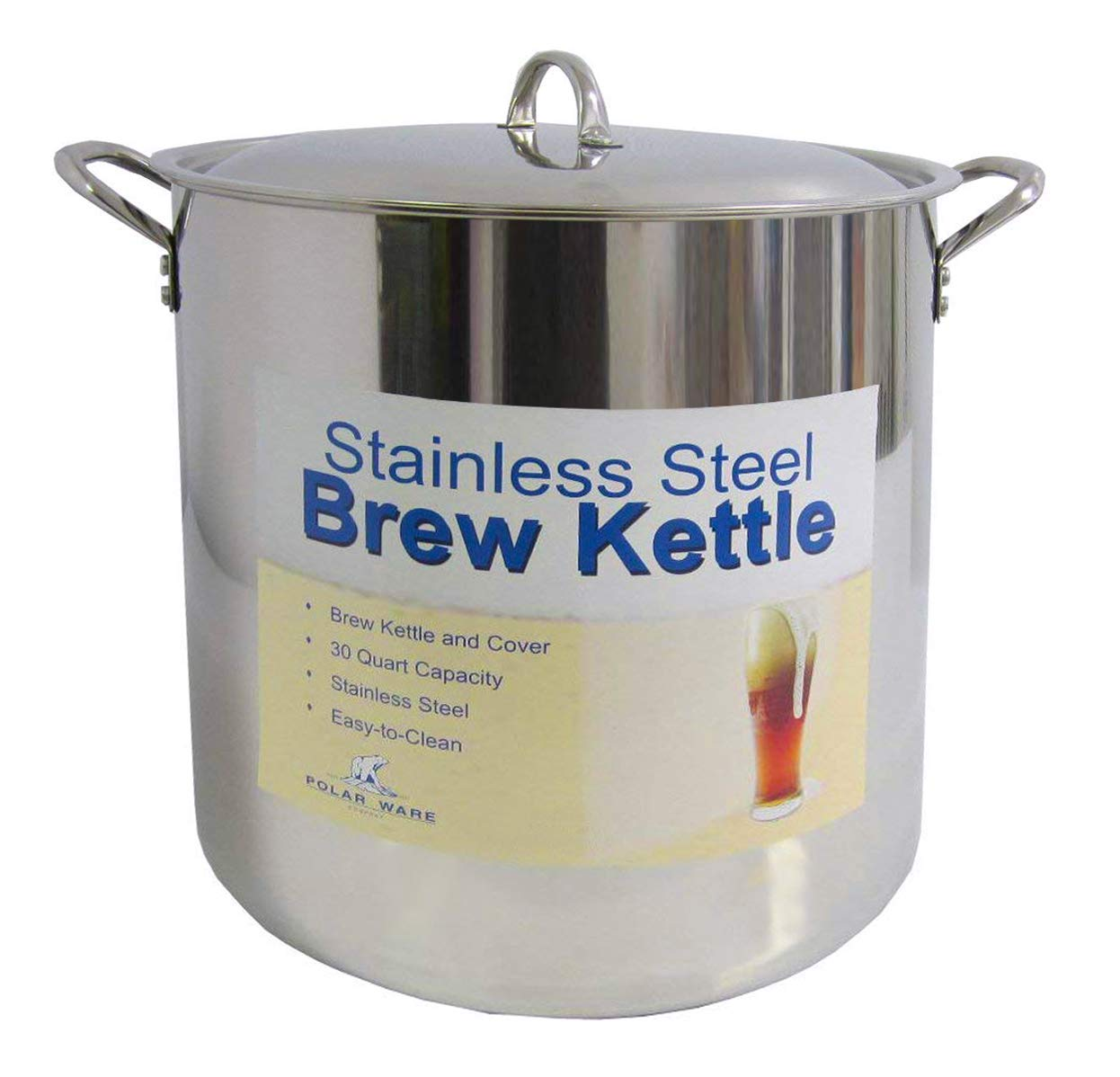 Amazoncom 30 Qt Stainless Steel Brew Kettle W Lid Kitchen Dining