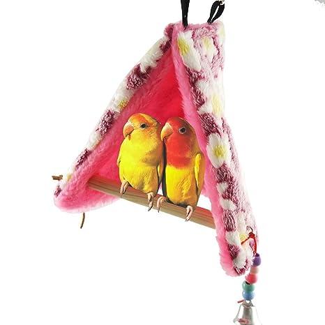Nido de pájaro cálido para el invierno con perchas para loros ...
