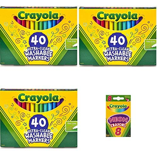 Crayola Ultra-Clean Washable Markers, Fine Line, 40 Count 11 (3 Pack) by Crayola (Image #1)