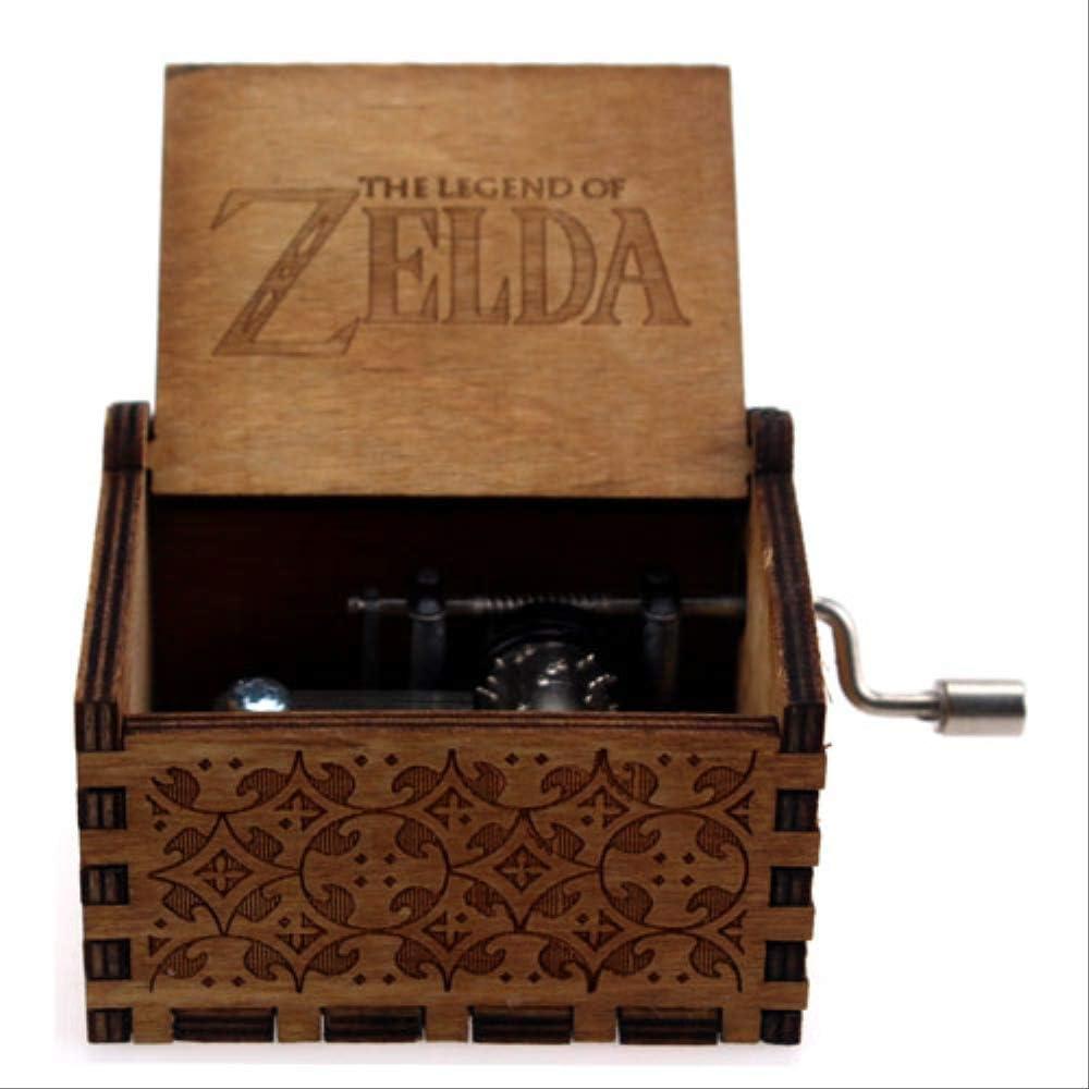 LYXL Caja Musica Niña Carved Queen Music Box Star Wars Juego De Tronos Castle In The Sky Caja De Música De Madera con Manivela Leyenda de Zelda: Amazon.es: Hogar