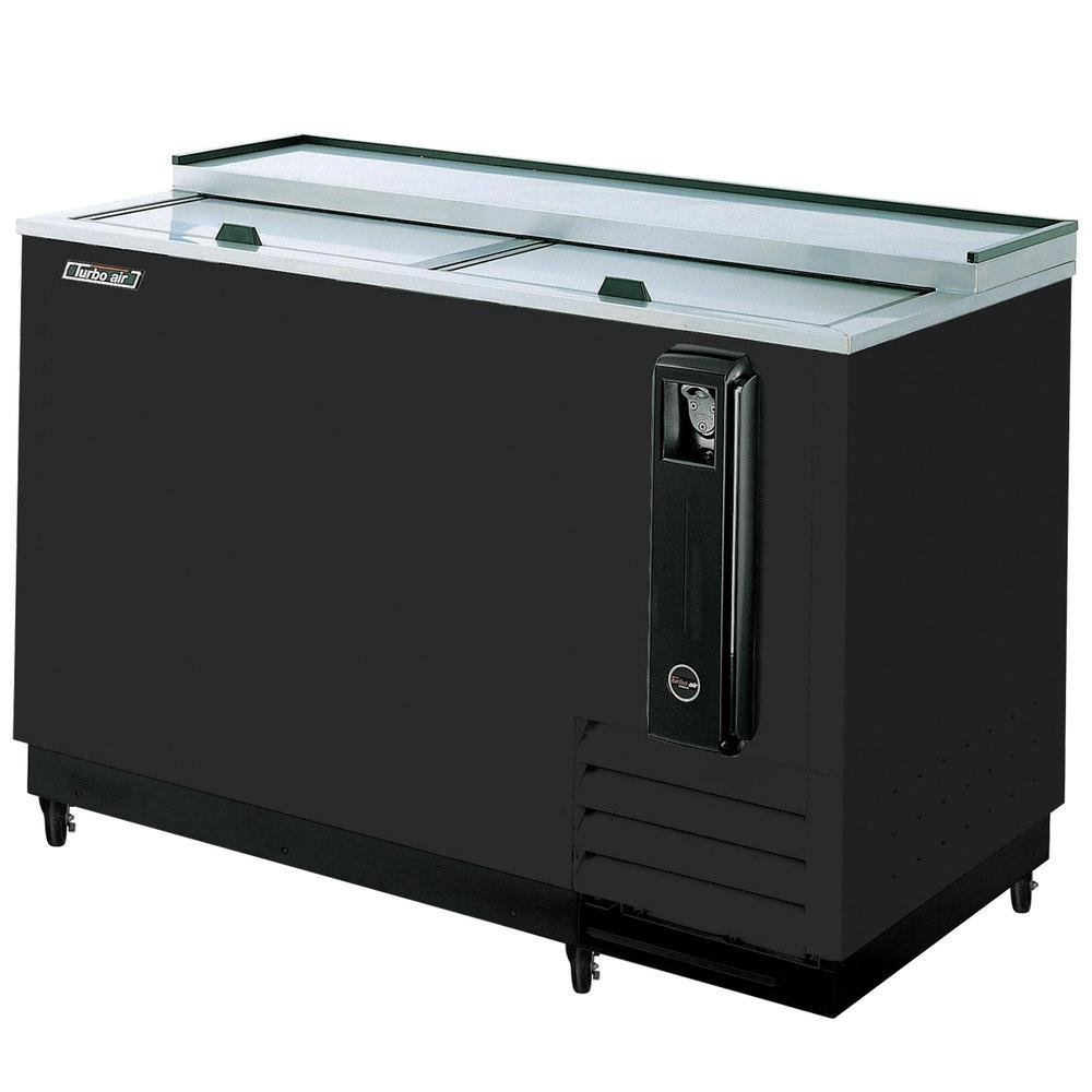 TBC50SB 15 cu. ft. Bottle Cooler with Forced Air Cooling System High Density PU Insulation PE Coated Dividers Efficient Refrigeration System and Stainless Steel Construction: Black