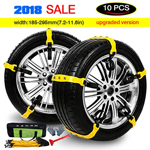 Mayper Tire Chains Snow Chains for Car/SUV/Trucks/ATV Anti-Skid Emergency Snow Tire Chains Adjustable Car Security Chain for Snow Ice Mud Width:185-295mm/7.2-11.6'' by Mayper (Image #8)