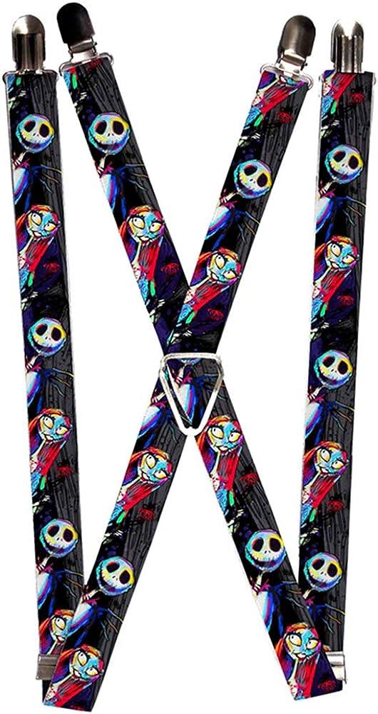 Buckle-Down Suspenders-Nightmare Before Christmas Jack /& Sally Pose El