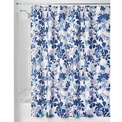 InterDesign Floral Fabric Curtain Bathroom