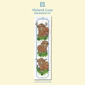 Other Crafts Highland Cow Bookmark Cross Stitch Kit by Textile Heritage More Crafts