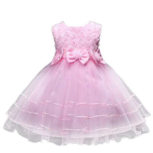 Lonshell - Vestido de princesa con flores para niña, ideal ...