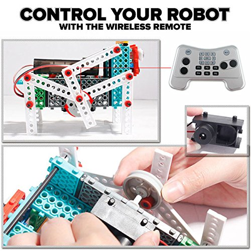 Brain Crunch SM1702 Smart Machines Remote Control Toy Building Robot Kit
