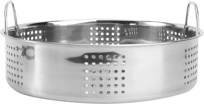 DOITOOL 23cm Stainless Steel Steaming Basket Egg Steam Rack Food Steamer Cookware for Restaurant Kitchen