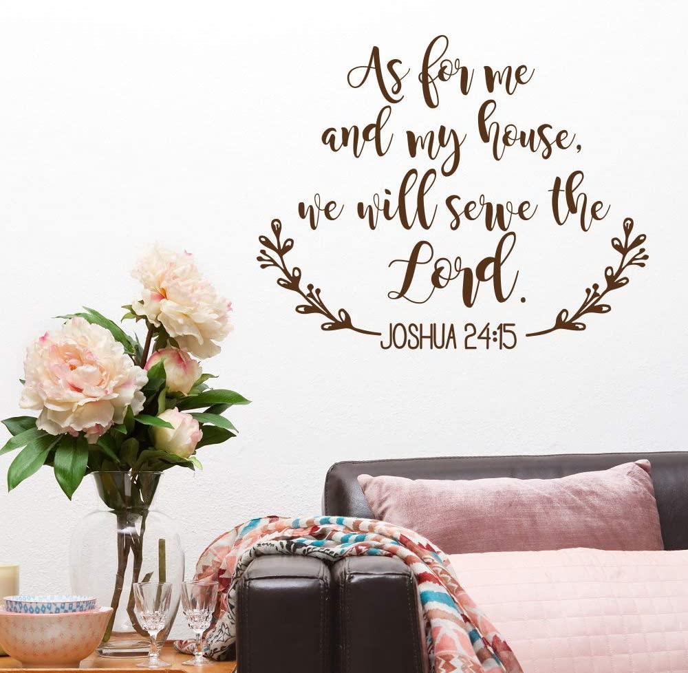 Joshua 24:15 As Me House Serve Lord Decal Bible Verse Vinyl Wall Quote Sticker A