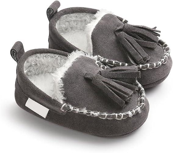 Newborn Baby Girl Soft Sole Crib Shoes Plush Faux Fur Slippers Pram Sandals USA