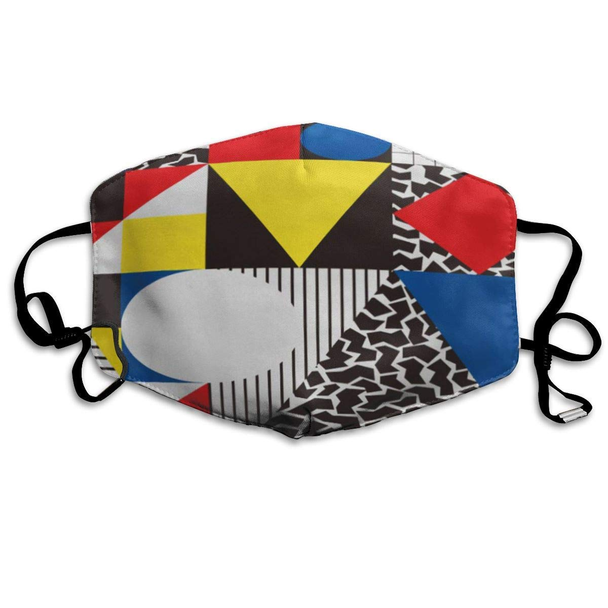 Dust-proof Thermal Masks, Suitable For Running And Cycling Outdoor Activities, Multi-purpose Masks Colorful Bauhaus Abstract Geometric In Retro Modern Pattern Cubism 80s