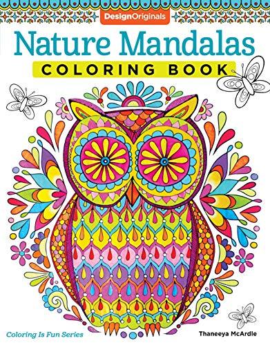 Nature Mandalas Coloring Book (Mandala Coloring Book For Kids)
