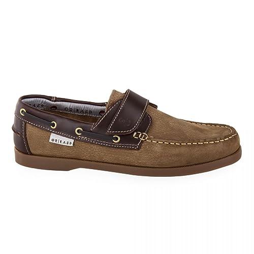 En Chaussures 43 Homme Orlando Cuir Marron Bateau vmw80ONn