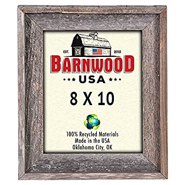 BarnwoodUSA Rustic 8 by 10 Signature Picture Frame - 100% Reclaimed Wood