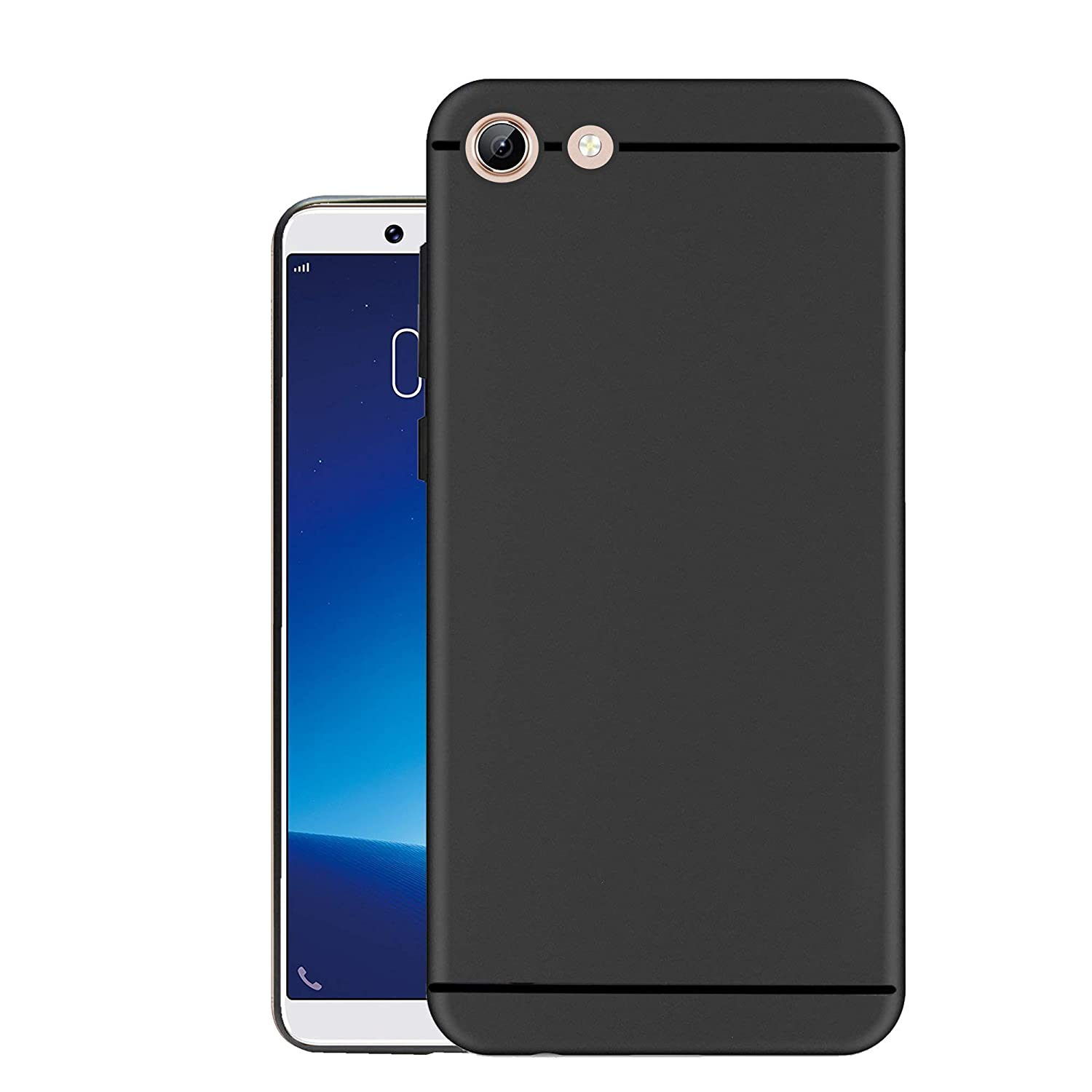 official photos d4d56 f9594 Hello Zone Exclusive Matte Finish Soft Back Case Cover for Vivo Y71 - Black