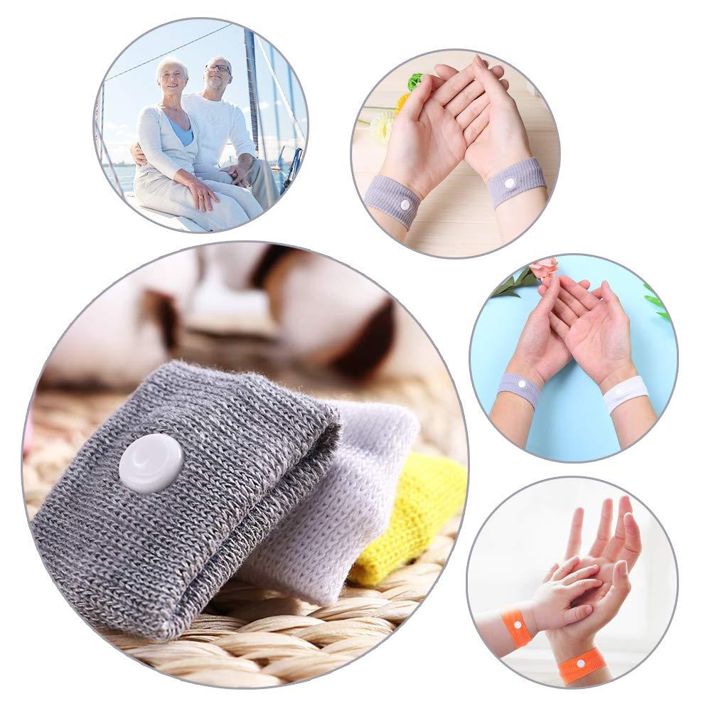 8 Paires Bracelet Voyage Utilisez Un Massage par Acupression pour Pr/évenir Le Le Mal de Mer Mal des Transports Bracelet Voyage Anti Nausee Gobesty Bracelet Anti Naus/ée