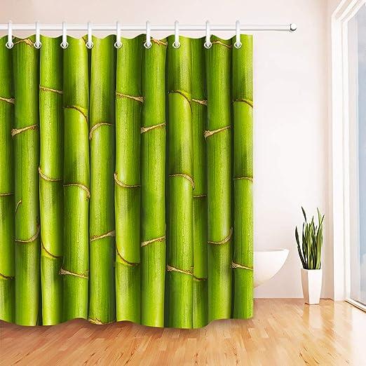 JHTRSJYTJ El Conjunto de Tallos de bambú Verde de poliéster ...