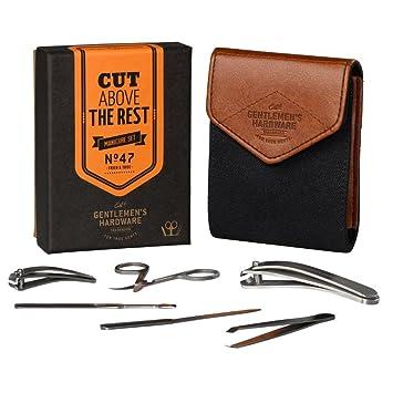 f427b79d7c Amazon.com   Gentlemen s Hardware 7-Piece Men s Manicure Kit with ...