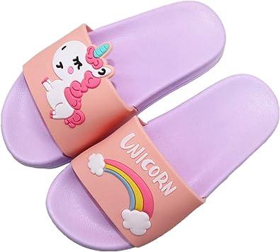Kids Unicorn Slide Sandals Lightweight