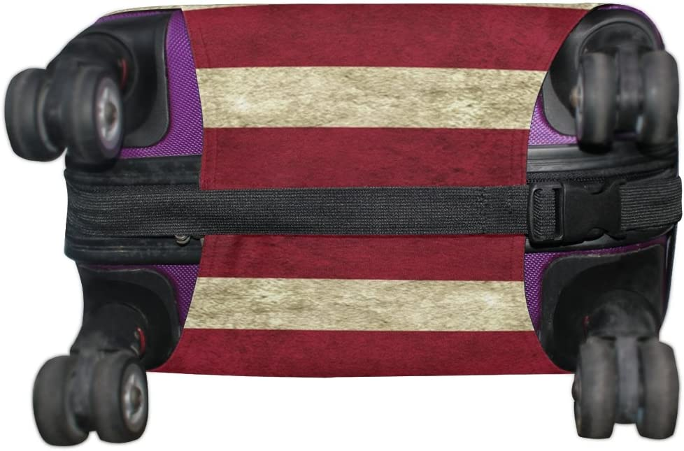 LEISISI American Flag Luggage Cover Elastic Protector Fits XL 29-32 in Suitcase