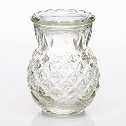 Amazon Richland Glass Bud Vase Clear Pineapple Set Of 12 Home