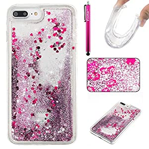 iPhone 7 Plus Case, Firefish Slim Dynamic Flowing [Anti-Slip] Flexible TPU [Scratch Resistances] Protective Cover for Girls Children Fits for Apple iPhone 7 Plus -Purple