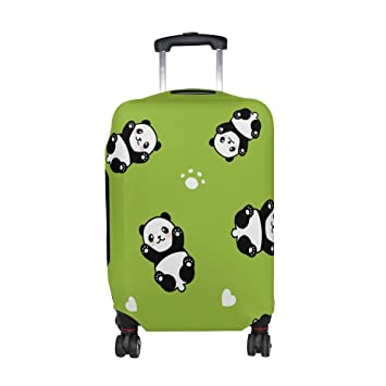 MyDaily Cute Panda Luggage Cover Fits 18-22 Inch Suitcase Spandex Travel Baggage Protector S