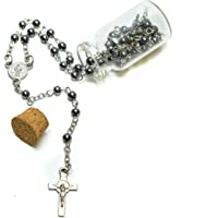 Rosario Religioso con Medalla Católica y Crucifijo, Collar Crucifijo para Hombre y Mujer, Collar de Rosario y Rosario…