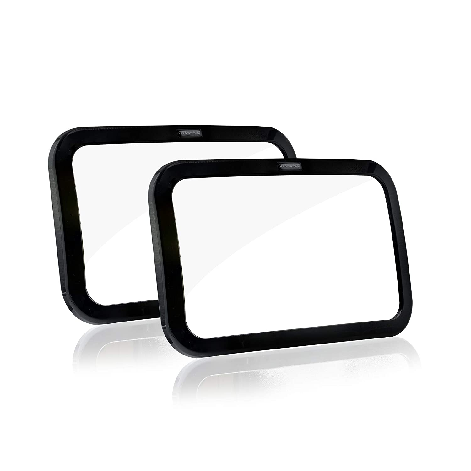 Safety Car Seat Mirror for Rear Facing Infant Car Seat Shatterproof Acrylic Essential Car Seat Accessory Baby Car Mirror 2 Pack 360 Degree Adjustability with Wide Clear View of Infants Every Move