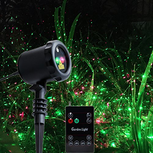 Poeland Outdoor Landscape Light Christmas Static Laser Lights Firefly Star Projector Waterproof Red and Green