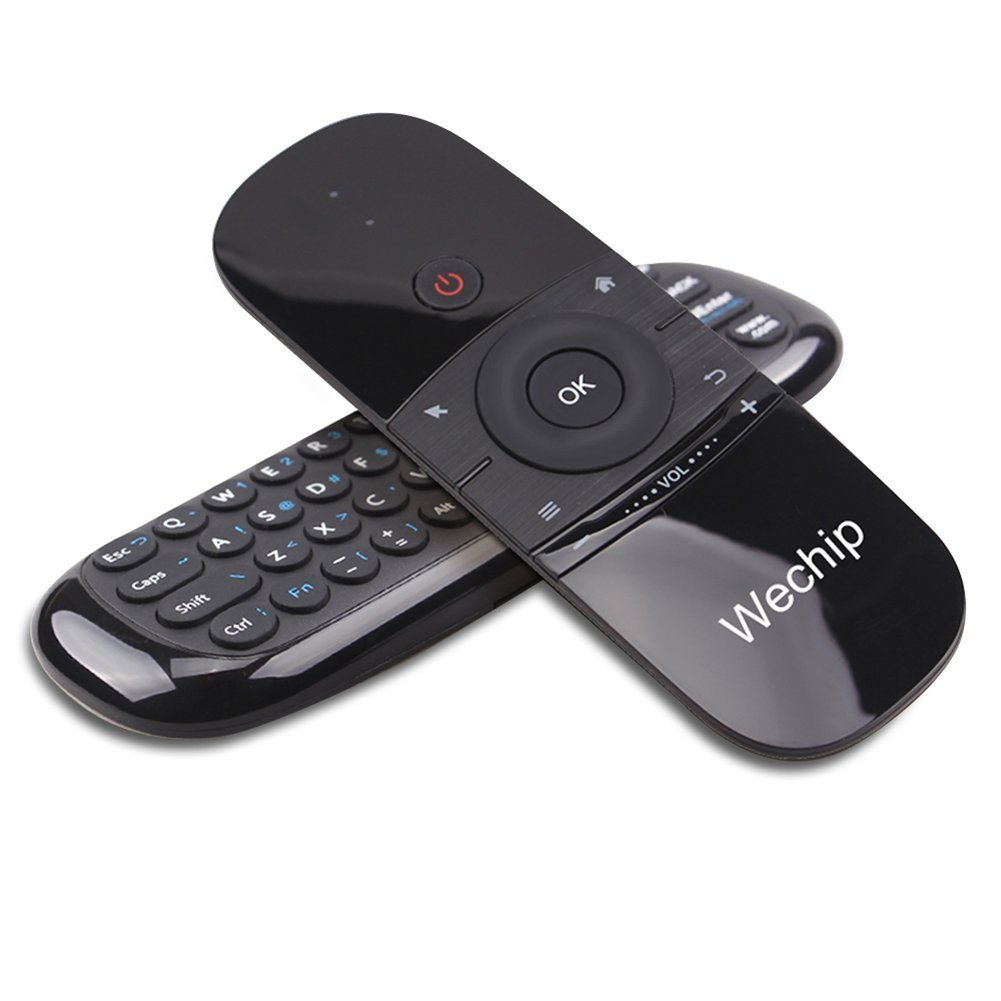 Wechip 2.4G Smart TV Wireless Keyboard Fly Mouse W1 Multifunctional Remote Control for Android TV Box/PC/Smart TV/Projector/HTPC/All-in-one PC/TV (Black) by WeChip (Image #8)