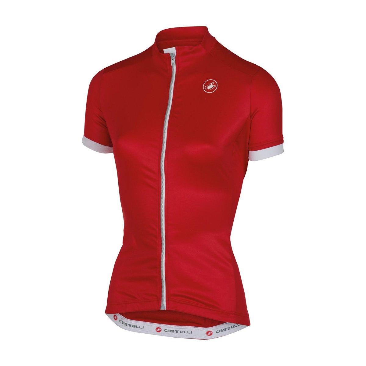 Amazon.com   Castelli 2016 Women s Anima Full Zip Short Sleeve Cycling  Jersey - A16055   Sports   Outdoors d55dbd22d
