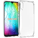 Samsung Galaxy A50 Case, PUSHIMEI Soft TPU Crystal Transparent Slim Anti Slip Full-Body Protective Phone Case Cover for Samsung Galaxy A50(Clear Anti-Shock TPU)