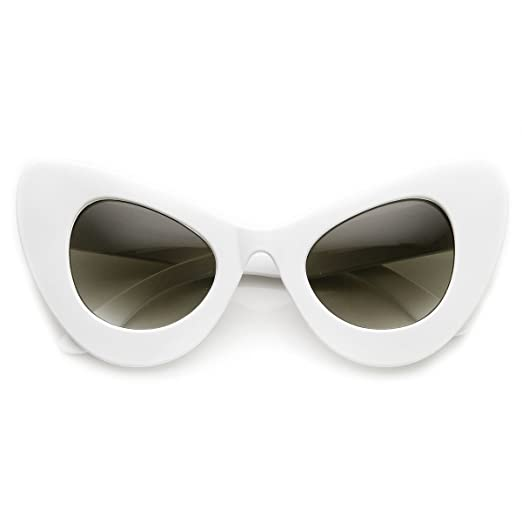 64d73505dc3132 Amazon.com  High Fashion Bold Oversized Women s Cat Eye Sunglasses ...