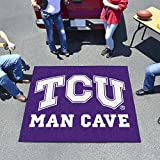 "NCAA Texas Christian University Man Cave Tailgater Rug, 60"" x 72""/Small, Black"