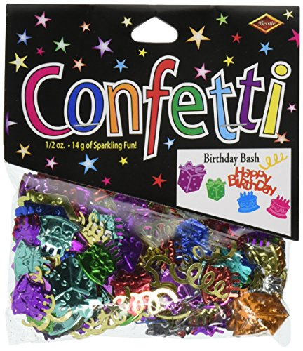Beistle CN023 Birthday Bash (Birthday Party Confetti)