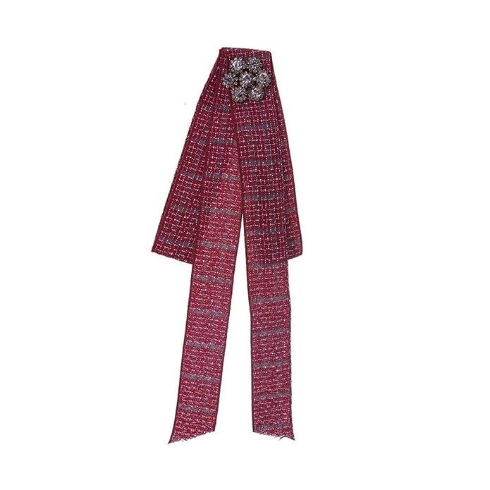 auvwxyz. Broches Corbata de Lazo de Color Liso para Mujer Pajarita ...