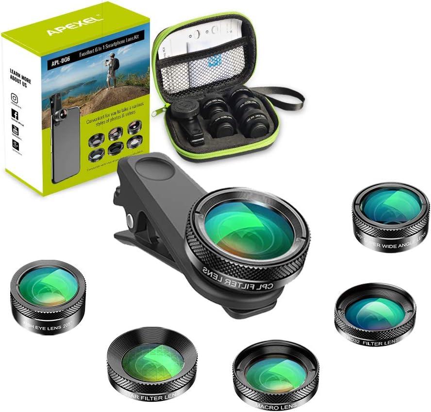 Apexel 6 In 1 Handy Kameraobjektiv Set Kamera