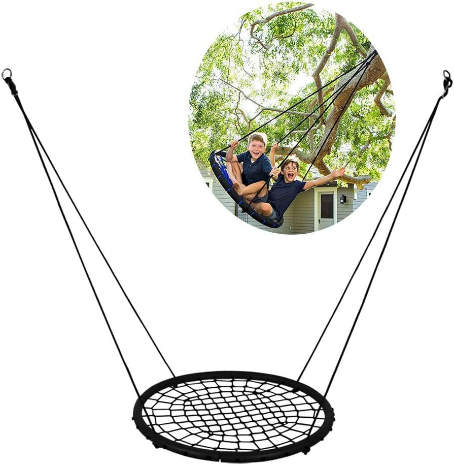 Swing, Spider Web Tree Swing Garden Swing for Children Adults for Up to 330Lbs,Adjustable,Black