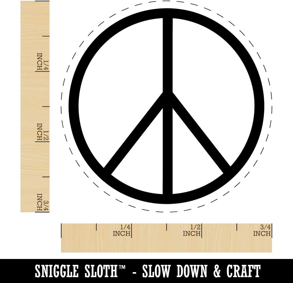 Peace Sign Rubber Stamp for Stamping Crafting Planners 1//2 Inch Mini